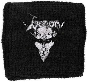 Venom - Sweat Towelling Embroided Wristband (Black Metal)
