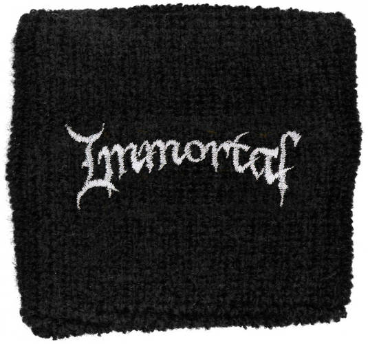 Immortal - Sweat Towelling Embroided Wristband (Logo)