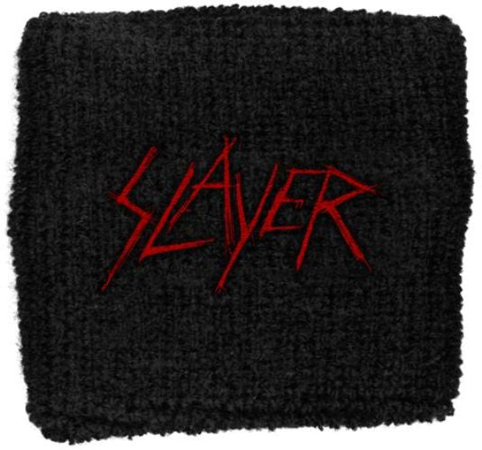 Slayer - Sweat Towelling Embroided Wristband (Scratched Logo)