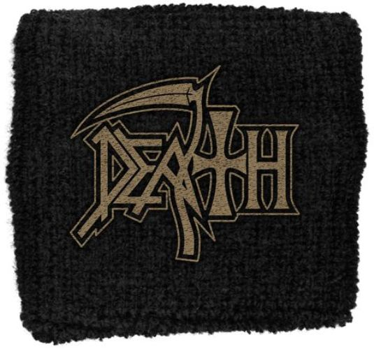 Death - Sweat Towelling Embroided Wristband (Logo)