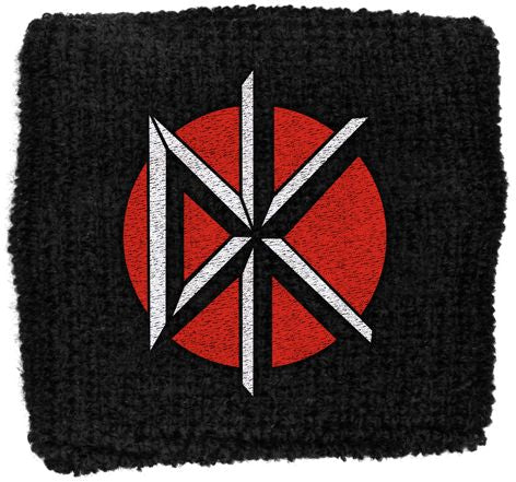 Dead Kennedys - Sweat Towelling Embroided Wristband (DK Logo)