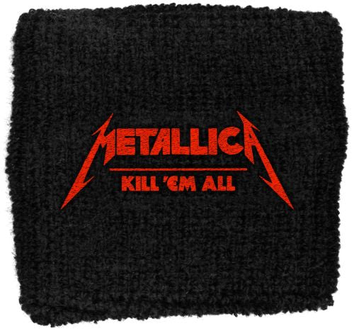 Metallica - Sweat Towelling Embroided Wristband (Kill Em All)