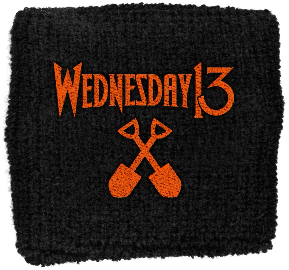 Wednesday 13 - Sweat Towelling Embroided Wristband (Logo)