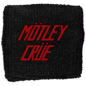 Motley Crue - Sweat Towelling Embroided Wristband (Logo)