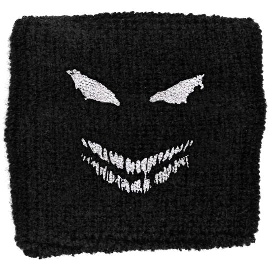 Disturbed - Sweat Towelling Embroided Wristband (Face)