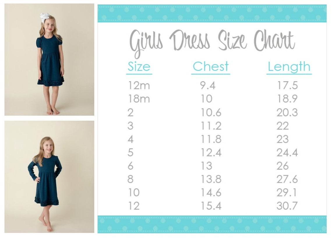 Navy Dress Size Chart