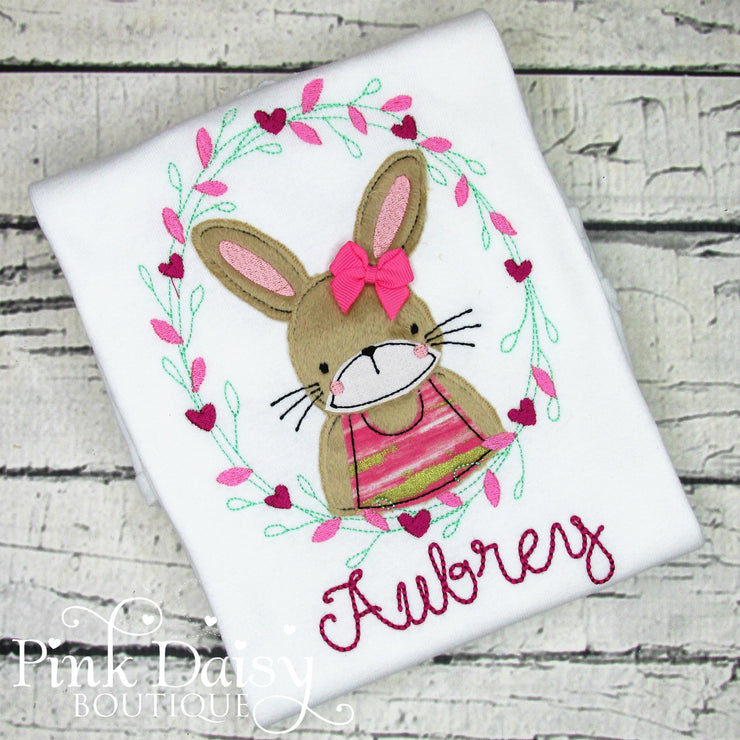 Boho Bunny Rabbit Shirt for Girls