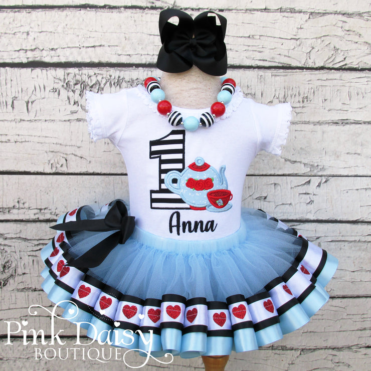 Alice in ONEderland Tea Party Birthday Tutu Outfit
