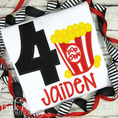 Popcorn Birthday Shirt for Boys