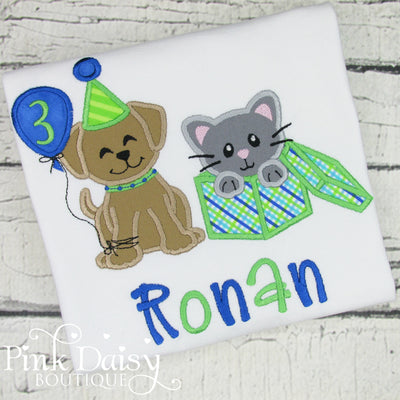 Dog and Cat Birthday Shirt for Boys