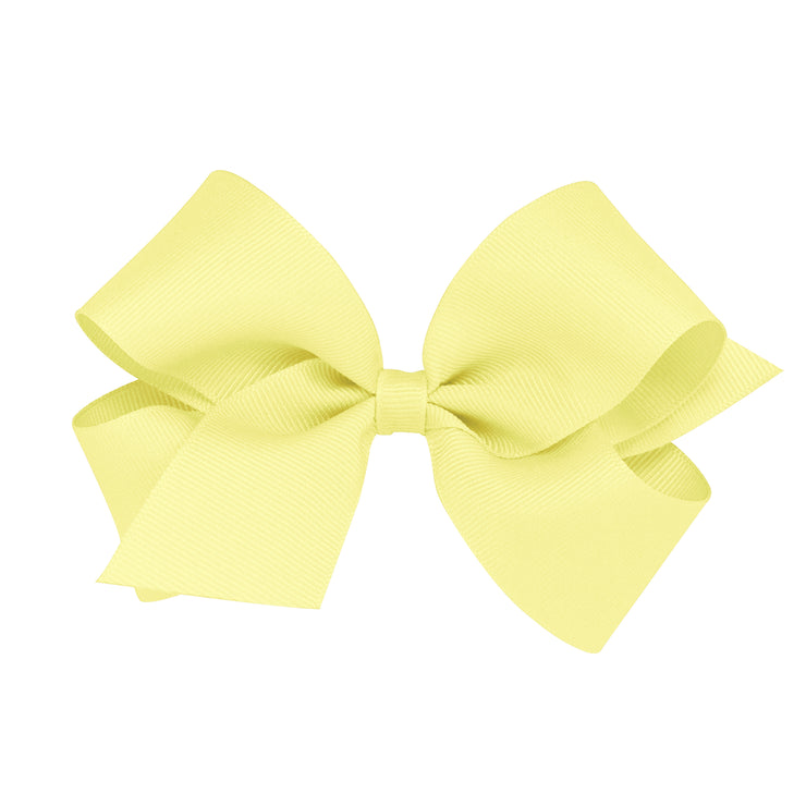 Light Yellow Classic Grosgrain Hair Bow