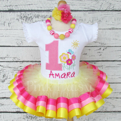 Flower Garden Birthday Tutu Outfit