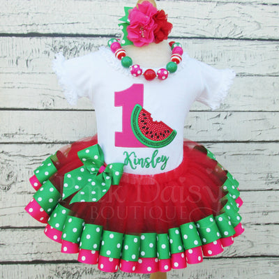 Watermelon Birthday Tutu Outfit