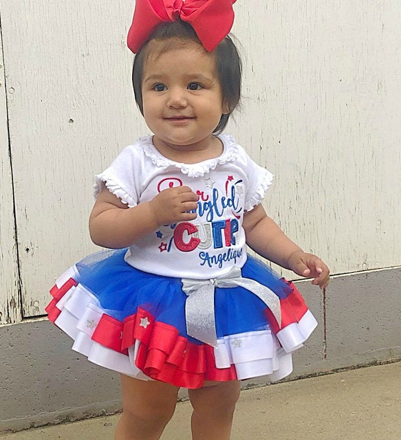 Star Spangled Cutie 4th of July Tutu Outfit