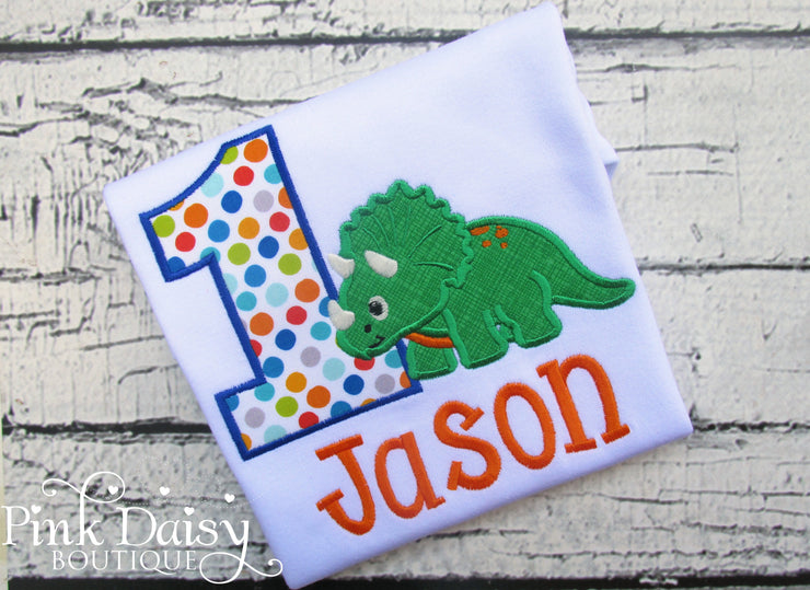 Dinosaur Birthday Shirt for Boys