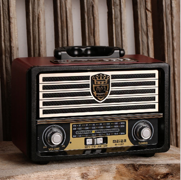 Vintage Wooden Bluetooth Speaker