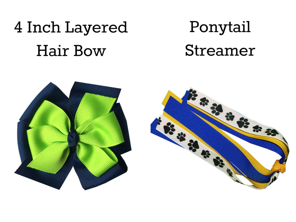"Pick Your Colors - 4"" Bow and Ponytail Streamer Sample Pack #1 (36 items)"
