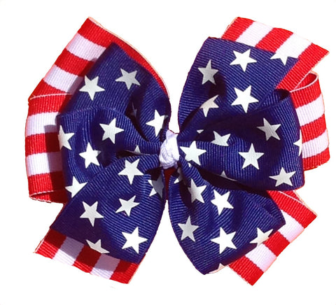 3-in-1 Extra Large Fourth of July Bow Set