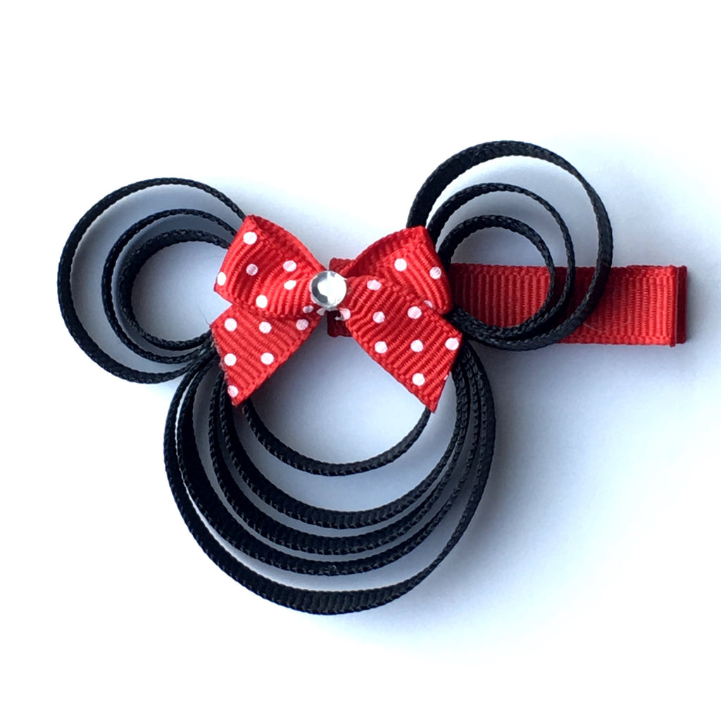 Red Dot Bow Minnie Mouse Hair Clip