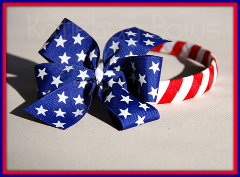 4th of July Headband and Bow