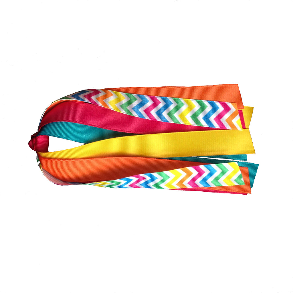 Neon Chevron Ponytail Streamer