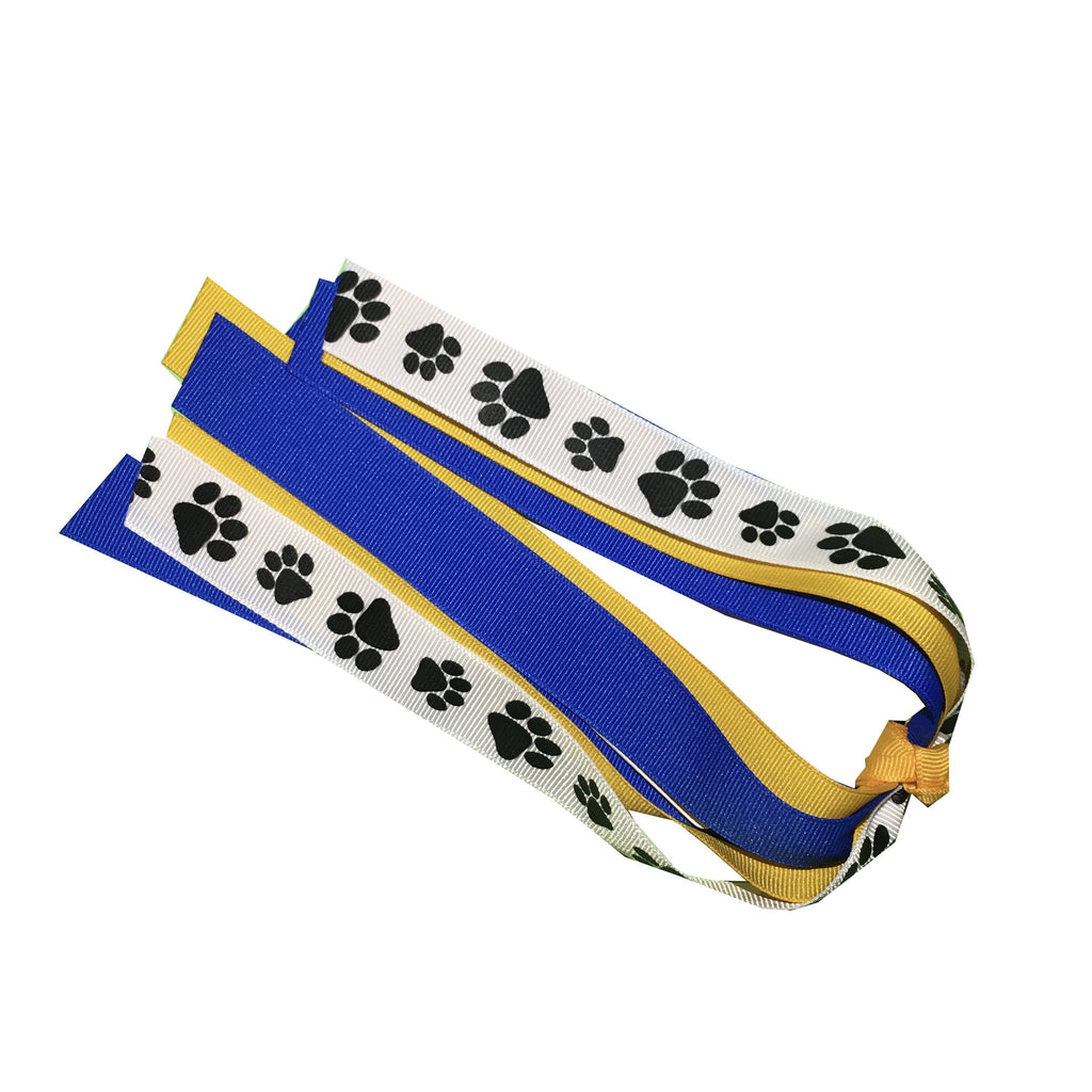 Paw Print Ponytail Streamer - Pick Your Colors