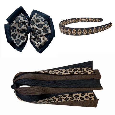 Large Leopard Gift Set - Black