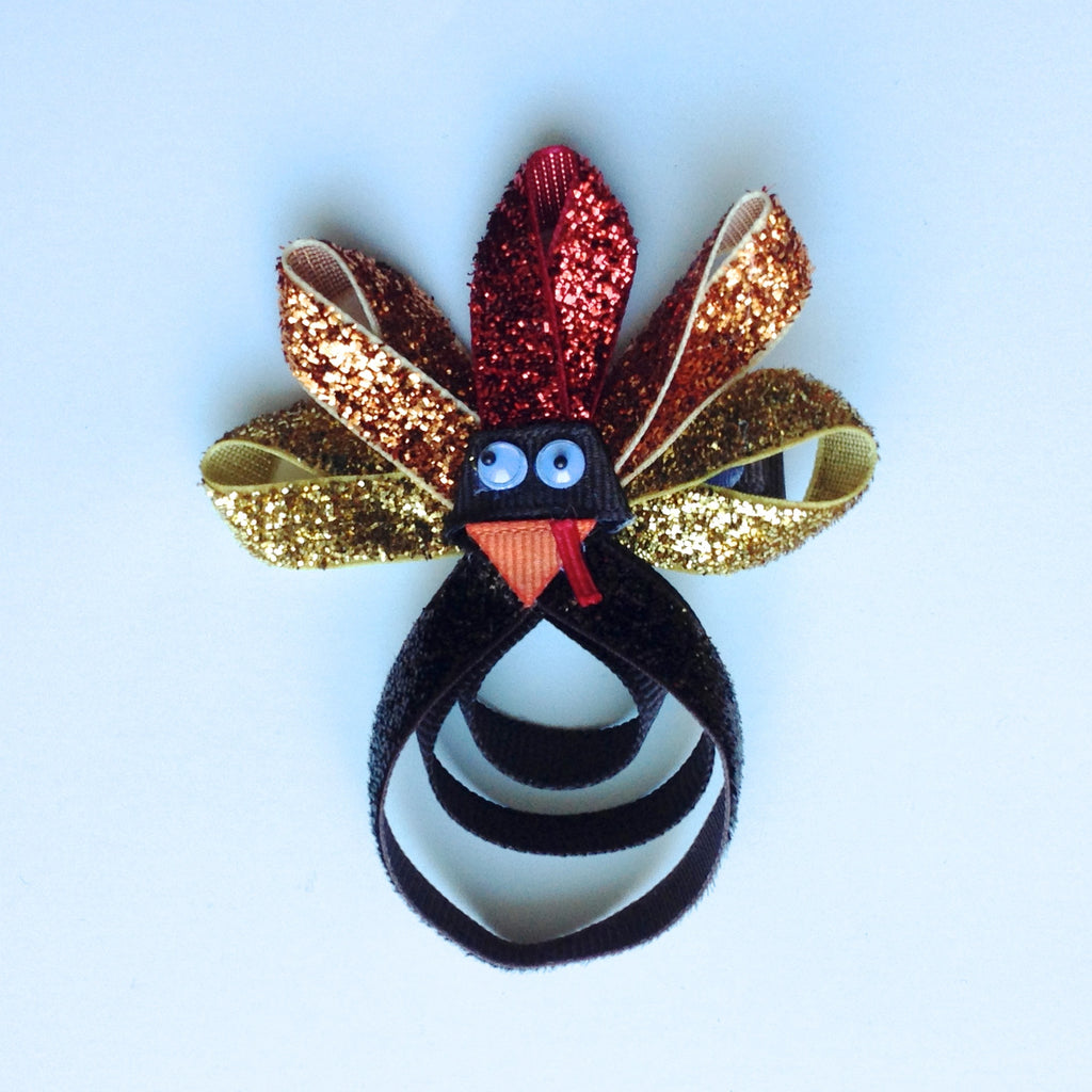 Glitter Turkey Hair Clip