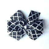 Quatrefoil Hair Bows - 8 Colors 2 Sizes