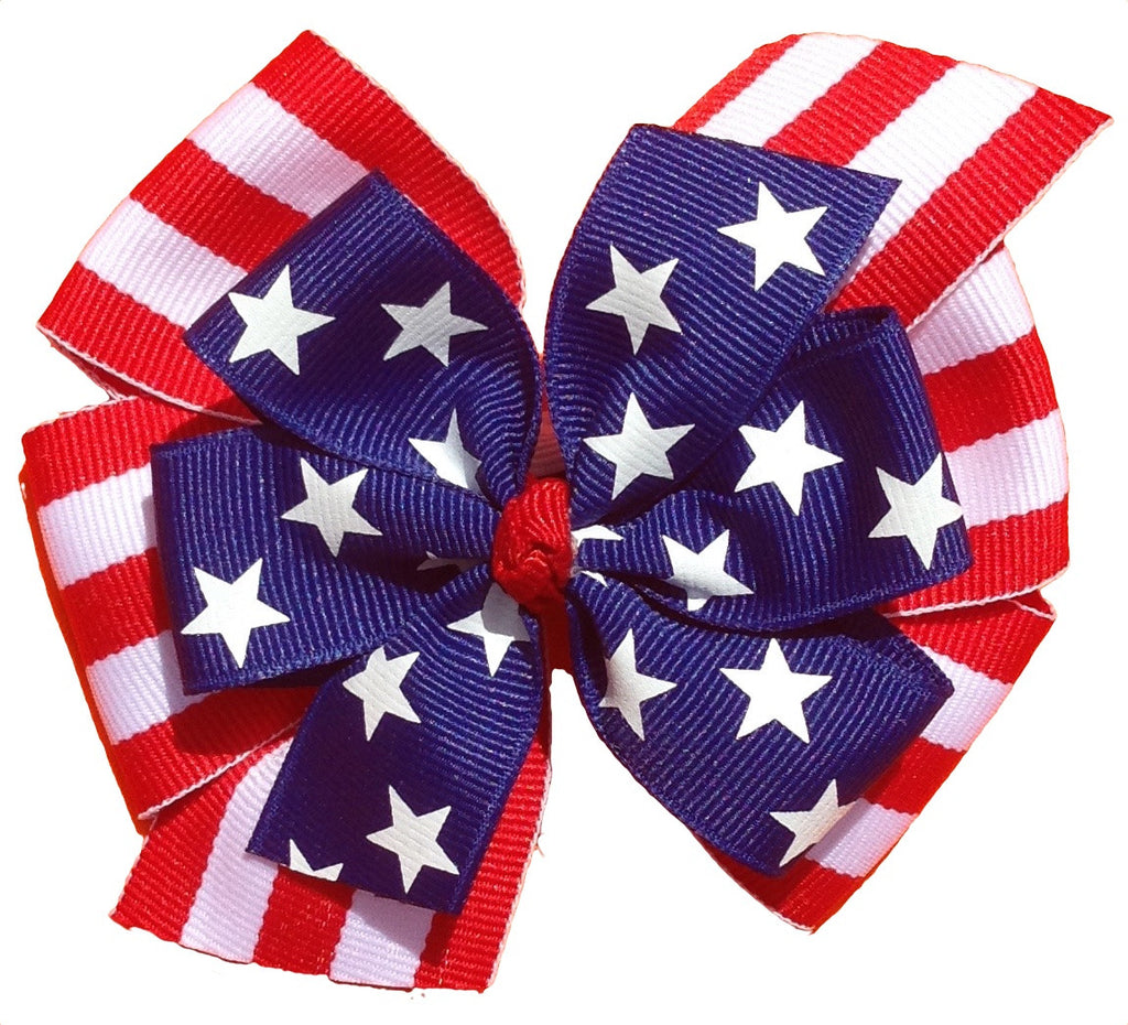3-in-1 Large Fourth of July Bow Set