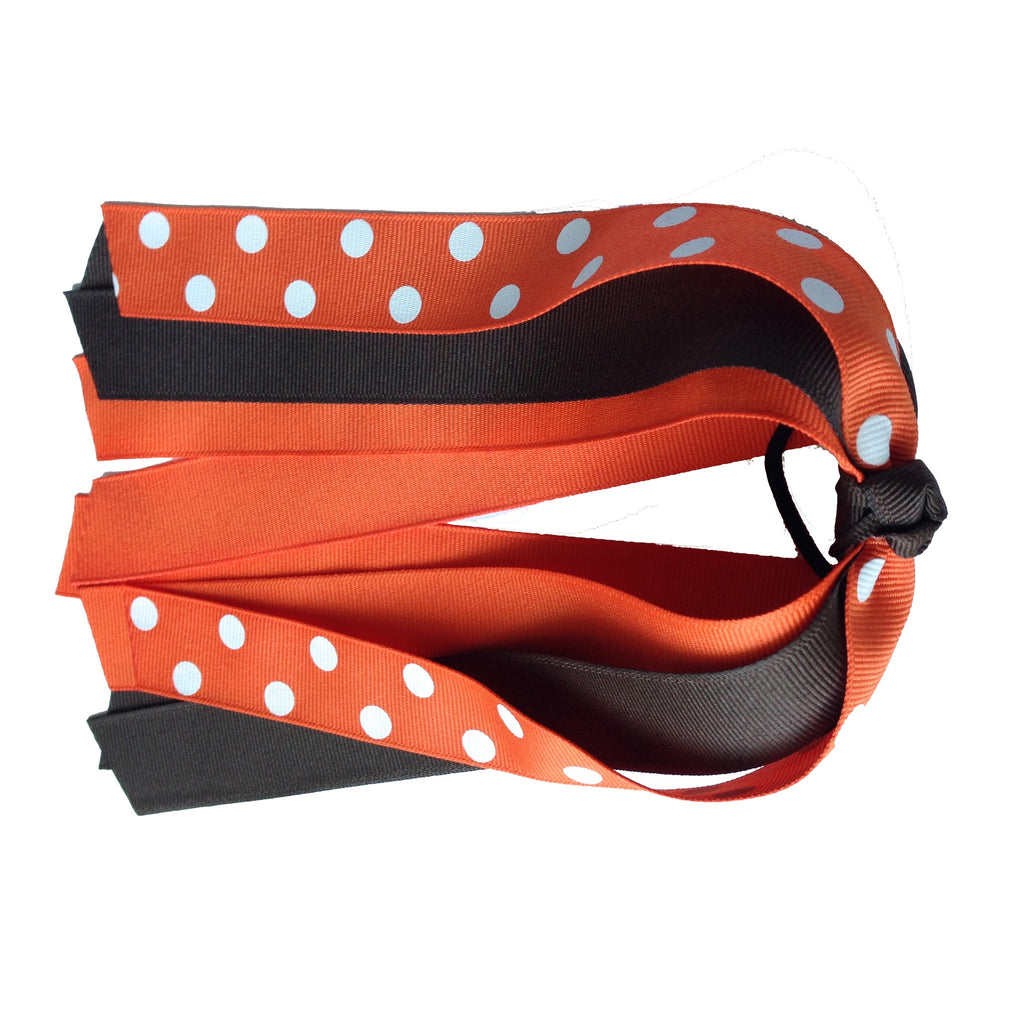 Cleveland Browns Inspired Ponytail Streamer