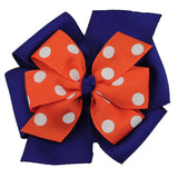 Polka Dot Large Layered Pinwheel Bows - Choose Your Colors - Wholesale - Fundraising