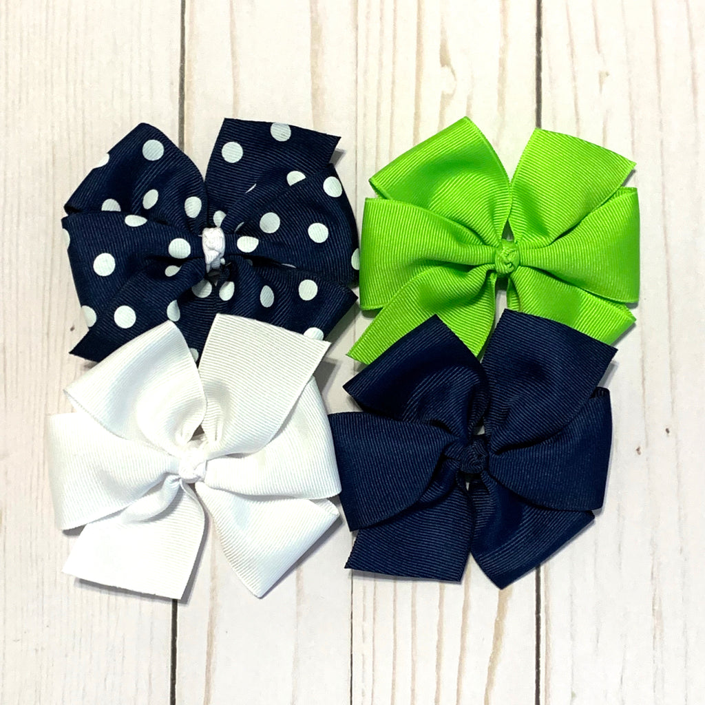 Large Sized Hair Bows - NHA Schools