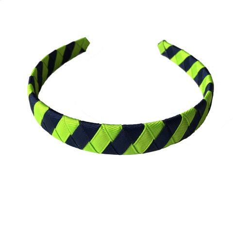 Lypple Green and Navy Striped Headband