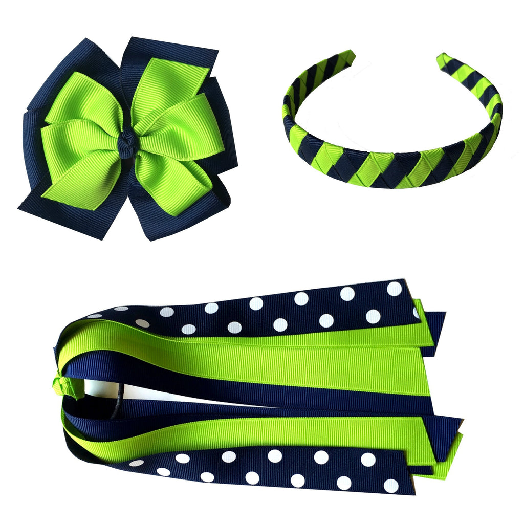 Large Bow, Headband, and Streamer Bundle