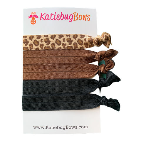 Leopard Hair Tie Set