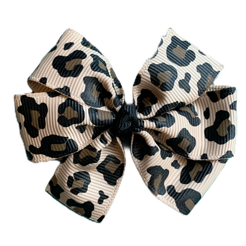 Medium Leopard Pinwheel Bow