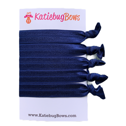 Navy Hair Ties