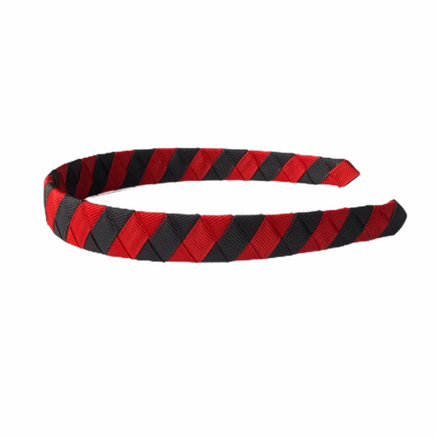 Red and Black Striped Headband