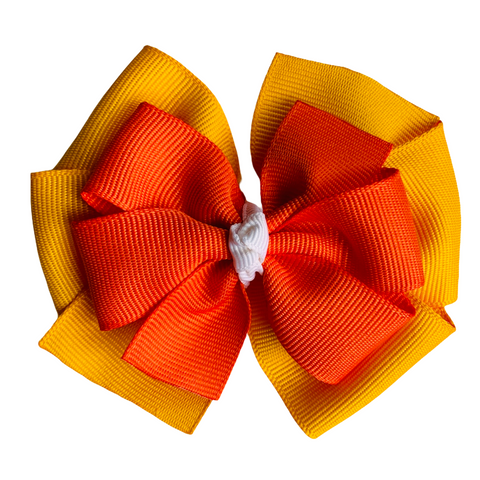 "Fall Colors Large 4"" Layered Pinwheel Hair Bow"