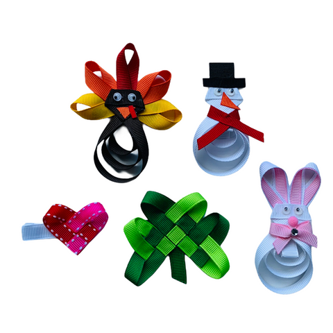 Large Holiday Ribbon Sculpture Gift Set