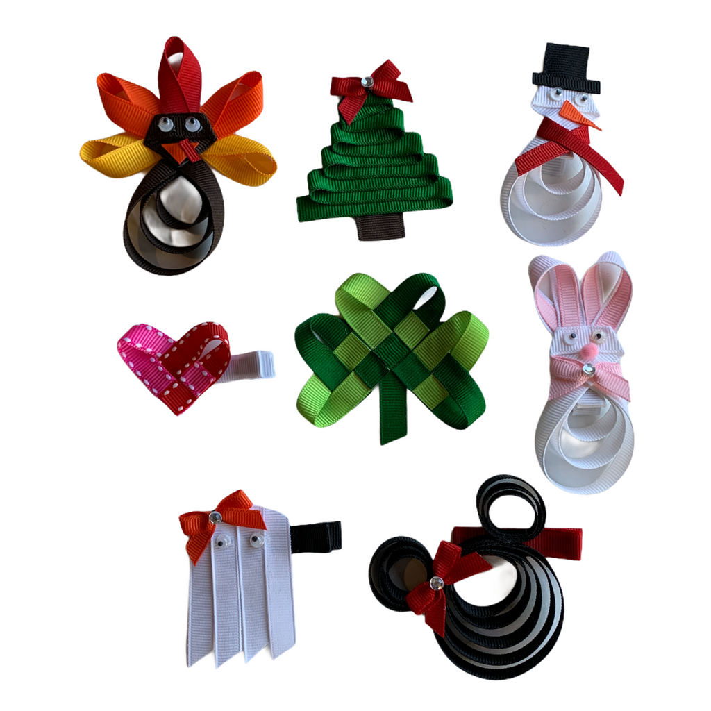 Extra Large Holiday Ribbon Sculpture Gift Set