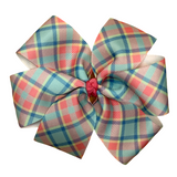 Plaid Hair Bow - Two Sizes