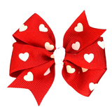 Valentine's Day Heart Hair Bow - Medium