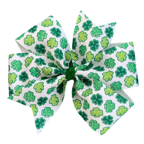 St. Patrick's Day Shamrock Hair Bow