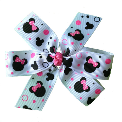 Pink Minnie Mouse Bow - multiple sizes