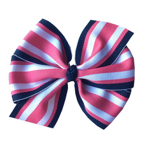Prep Stripe Large Hair Bow