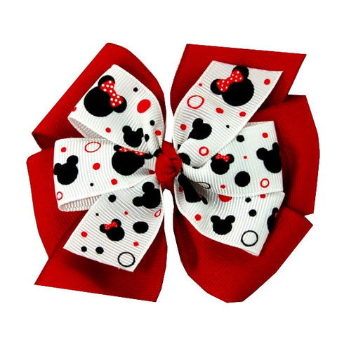 Large Layered Red Minnie Mouse Hair Bow