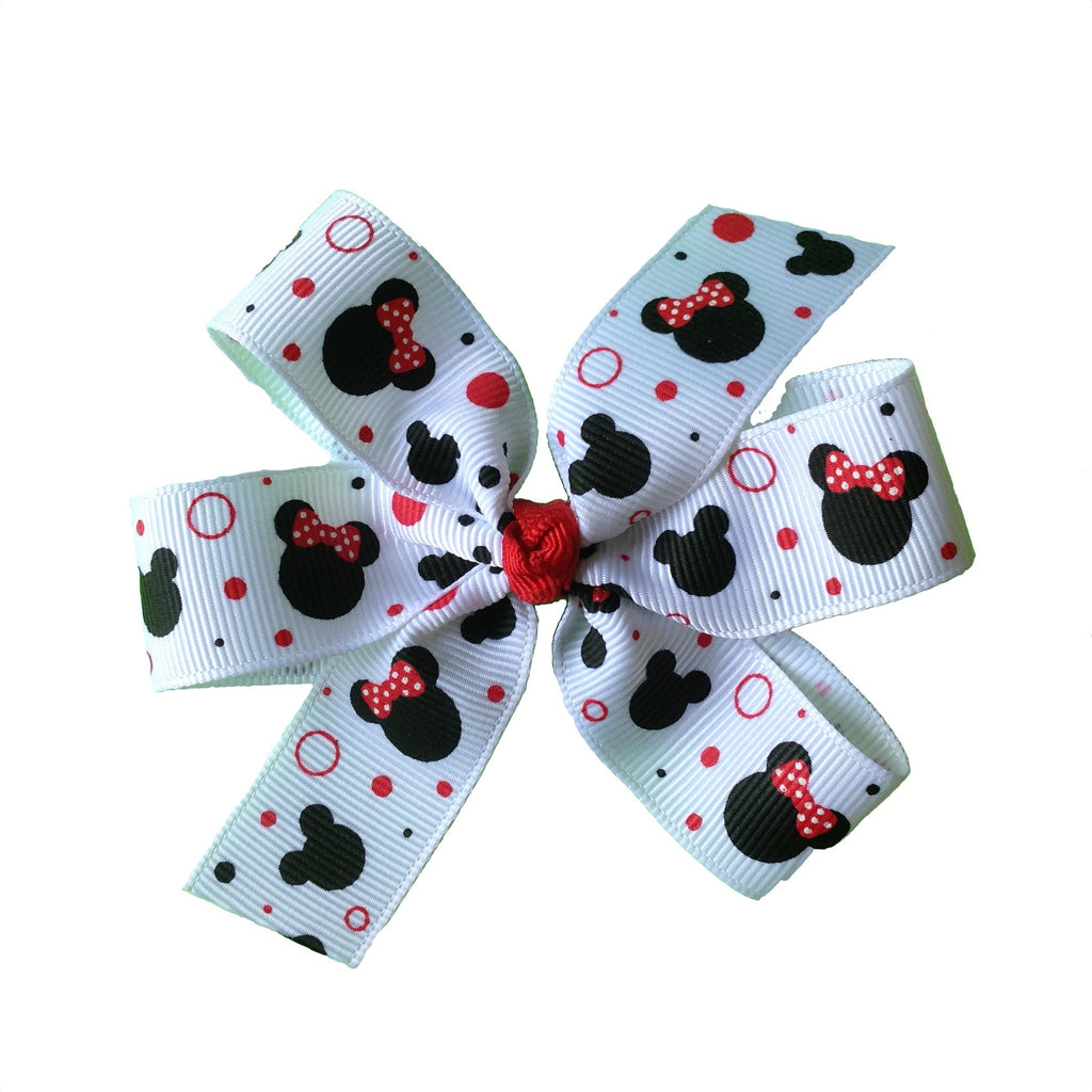 Red Minnie Mouse Bow - multiple sizes