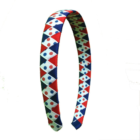 Red, White, Blue Dot Headband